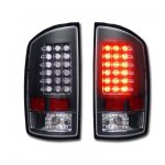 2002 Dodge Ram Black LED Tail Lights