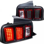 2006 Ford Mustang LED Tail Lights Black