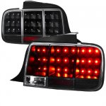 Ford Mustang 2005-2009 Black LED Tail Lights Sequential