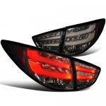 Hyundai Tucson 2010-2012 Smoked LED Tail Lights