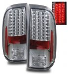 Ford F250 Super Duty 2008-2013 LED Tail Lights Chrome