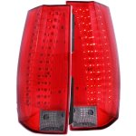 2008 Chevy Tahoe Red and Smoked LED Tail Lights