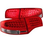 2005 Audi S4 Sedan Red and Clear LED Tail Lights