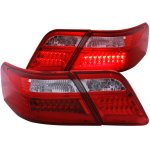 2008 Toyota Camry LED Tail Lights Red and Clear