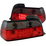 1996 BMW 3 Series Coupe Red and Smoked LED Tail Lights