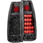 1990 Chevy 3500 Pickup Black LED Tail Lights