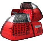 2002 BMW 3 Series Sedan Red and Clear LED Tail Lights