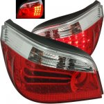 2006 BMW 5 Series Red and Clear LED Tail Lights