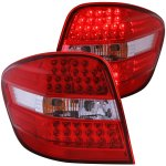 Mercedes Benz M Class 2006-2009 LED Tail Lights Red and Clear