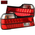 1992 BMW 7 Series Red and Clear LED Tail Lights