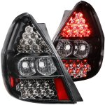 Honda Fit 2006-2008 Black LED Tail Lights