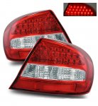 Chrysler Sebring Coupe 2003-2005 Red and Clear LED Tail Lights