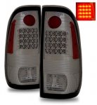 2002 Ford F250 Super Duty LED Tail Lights Smoked Lens