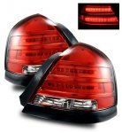 2007 Ford Crown Victoria LED Tail Lights with Black Trim