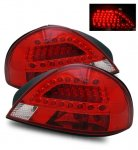 2003 Pontiac Grand AM LED Tail Lights Red and Clear