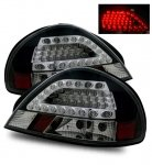 2002 Pontiac Grand AM LED Tail Lights Black