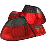 2003 BMW 3 Series Convertible Red and Smoked LED Tail Lights