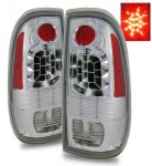 2001 Ford F250 Super Duty LED Tail Lights Chrome