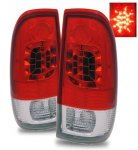 2002 Ford F250 Super Duty LED Tail Lights Red and Clear