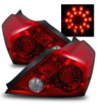 Nissan Altima Coupe 2008-2010 LED Tail Lights Red and Clear