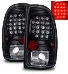 Dodge Dakota 1997-2004 Black LED Tail Lights