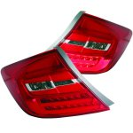 2012 Honda Civic Sedan LED Tail Lights Red and Clear