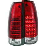 Chevy 2500 Pickup 1988-1998 Red and Clear LED Tail Lights