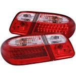 Mercedes Benz E Class 1996-2002 LED Tail Lights Red and Clear