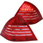 2005 Mercedes Benz C Class Sedan LED Tail Lights Red and Clear