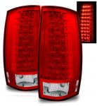 GMC Yukon Denali 2007-2013 Red and Clear LED Tail Lights
