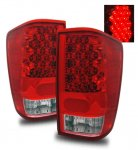 Nissan Titan 2004-2012 LED Tail Lights Red and Clear