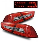 Mitsubishi Lancer 2008-2015 LED Tail Lights Red and Clear