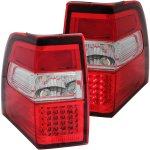 2013 Ford Expedition Red and Clear LED Tail Lights