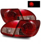 2007 Toyota Corolla LED Tail Lights Red and Clear