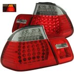 BMW 3 Series Sedan 1999-2001 Red and Clear LED Tail Lights
