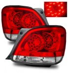 Lexus GS400 1998-2000 Red and Clear LED Tail Lights