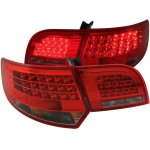 Audi A3 2004-2007 Red and Clear LED Tail Lights