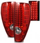 GMC Canyon 2004-2012 Red and Clear LED Tail Lights