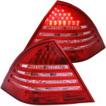 2001 Mercedes Benz C Class Sedan LED Tail Lights Red and Clear