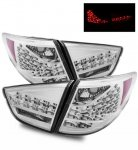 Hyundai Tucson 2010-2012 LED Tail Lights Clear