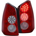 Mazda Tribute 2005-2006 LED Tail Lights Red and Clear