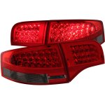 Audi A4 Sedan 2005-2008 Red and Smoked LED Tail Lights