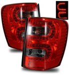 2000 Jeep Grand Cherokee LED Tail Lights Red and Smoked
