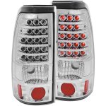 2000 Chevy Silverado LED Tail Lights Chrome