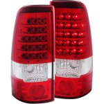 2000 Chevy Silverado LED Tail Lights Red and Clear