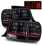 Ford Mustang 2005-2009 LED Tail Lights Black