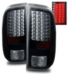 Ford F250 Super Duty 2008-2013 Black LED Tail Lights