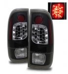 2001 Ford F250 Super Duty LED Tail Lights Black Housing