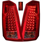 Cadillac CTS 2003-2007 Red and Smoked LED Tail Lights