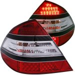 Mercedes Benz E Class 2003-2006 LED Tail Lights Red and Clear